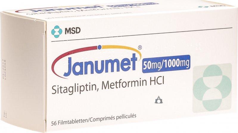 Januet 50mg / 850mg medicament pentru diabet în Kiev